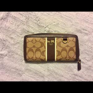 Coach heritage stripe wallet